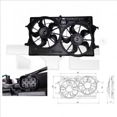 Вентилятор охлаждения двигателя TYC 8100019
