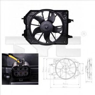Вентилятор охлаждения двигателя TYC 8100020