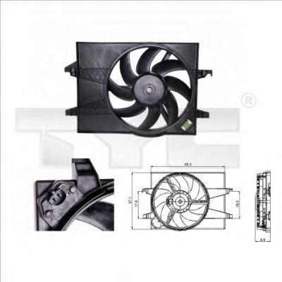 Вентилятор, охлаждение двигателя TYC 8100025