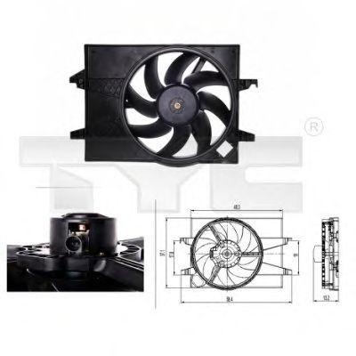 Вентилятор охлаждения двигателя TYC 8100026