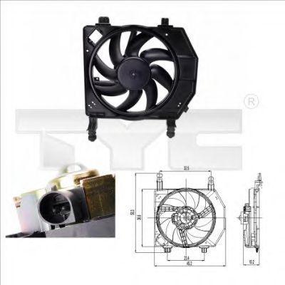 Вентилятор охлаждения двигателя TYC 810-0028