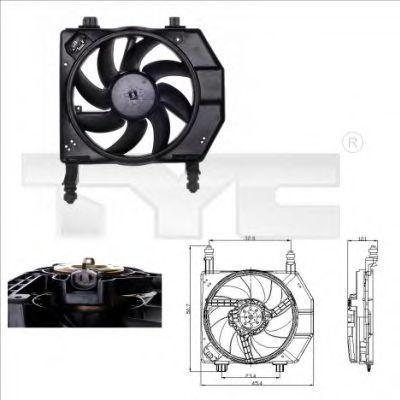 Вентилятор охлаждения двигателя TYC 810-0029