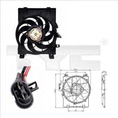 Вентилятор охлаждения двигателя TYC 8250001