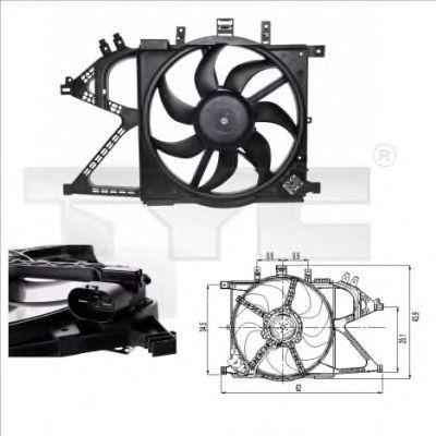 Вентилятор охлаждения двигателя TYC 8250007