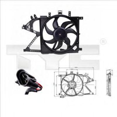 Вентилятор охлаждения двигателя TYC 8250008