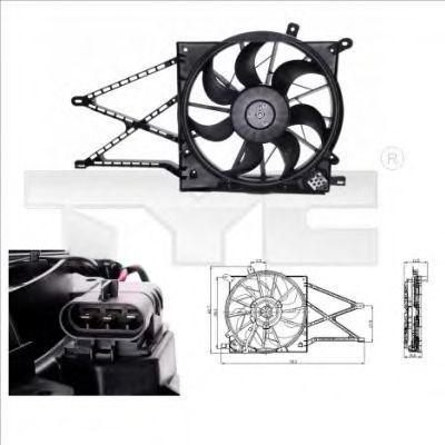 Вентилятор охлаждения двигателя TYC 8250011
