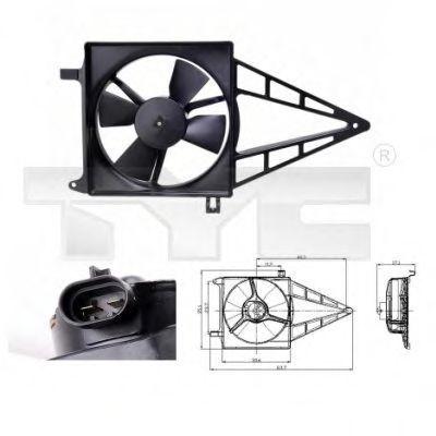 Вентилятор охлаждения двигателя TYC 8250012