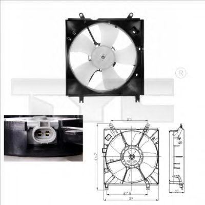 Вентилятор охлаждения двигателя TYC 8360008