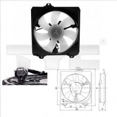 Вентилятор охлаждения двигателя TYC 836-0009