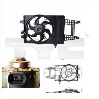 Вентилятор охлаждения двигателя TYC 8090004