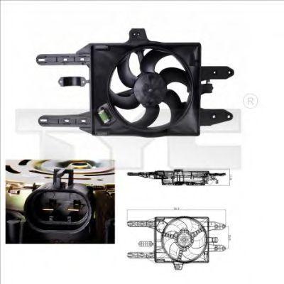 Вентилятор охлаждения двигателя TYC 8090005