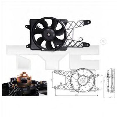 Вентилятор охлаждения двигателя TYC 8090012