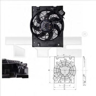 Вентилятор охлаждения двигателя TYC 8250014