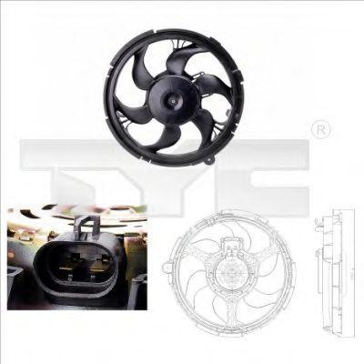 Вентилятор охлаждения двигателя TYC 8090010