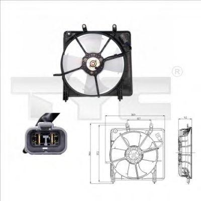 Вентилятор, охлаждение двигателя TYC 8120001