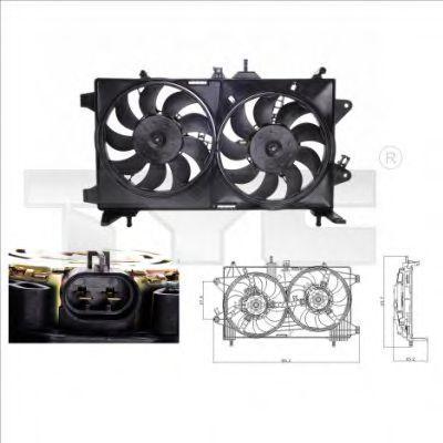 Вентилятор охлаждения двигателя TYC 8090001
