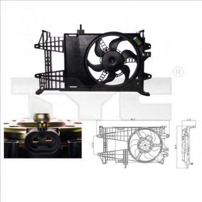 Вентилятор охлаждения двигателя TYC 8090003