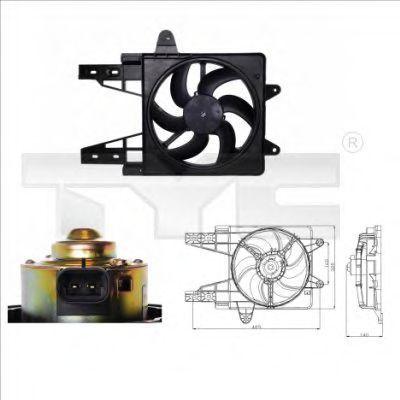 Вентилятор охлаждения двигателя TYC 8090013