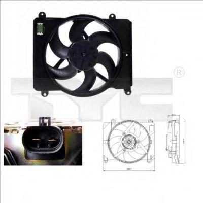Вентилятор охлаждения двигателя TYC 809-0014