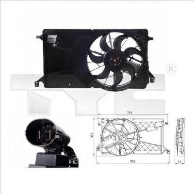 Вентилятор охлаждения двигателя TYC 8200001