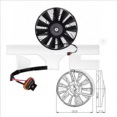 Вентилятор охлаждения двигателя TYC 825-0006