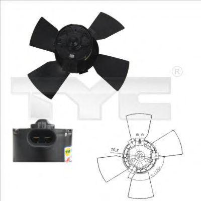 Вентилятор охлаждения двигателя TYC 8250015