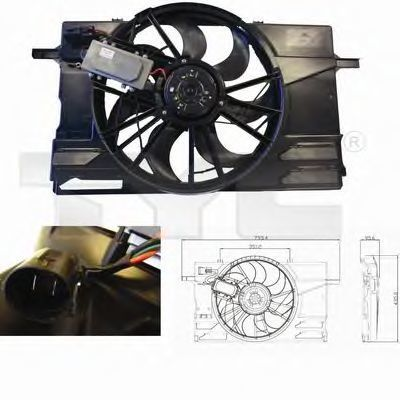 Вентилятор охлаждения двигателя TYC 8380007