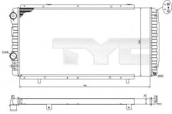 Радиатор охлаждения TYC 7090014R