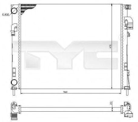Радиатор охлаждения TYC 725-0031
