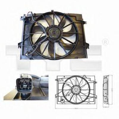 Вентилятор охлаждения двигателя TYC 8170001