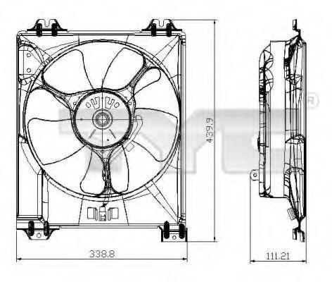 Вентилятор охлаждения двигателя TYC 809-0016