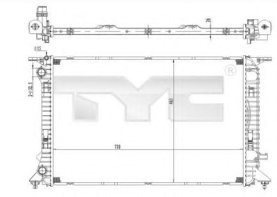 Радиатор охлаждения TYC 702-0036