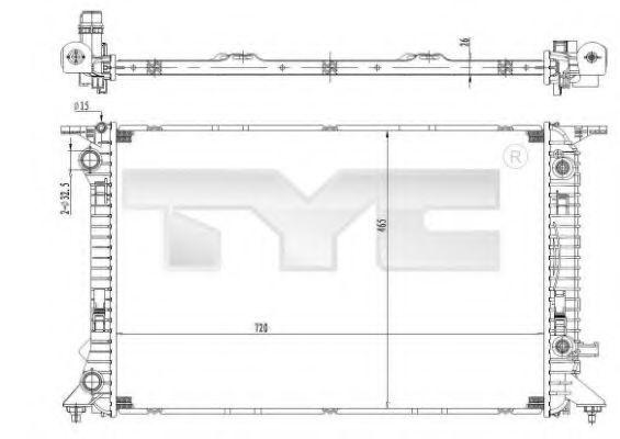 Радиатор охлаждения TYC 702-0037
