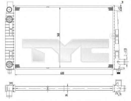 Радиатор охлаждения TYC 7210012