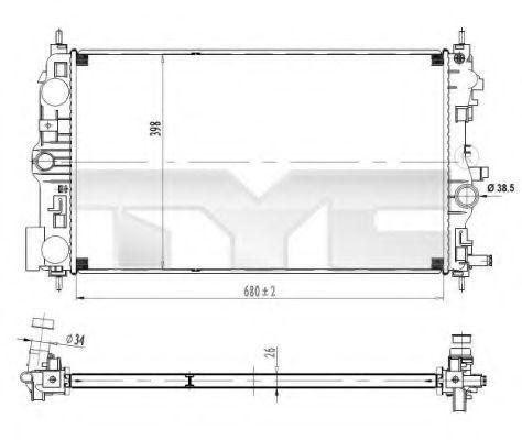 Радиатор охлаждения TYC 725-0037