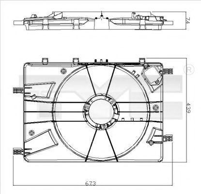 Кронштейн вентилятора радиатора TYC 82500161