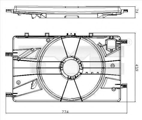 Кронштейн вентилятора радиатора TYC 825-0017-1