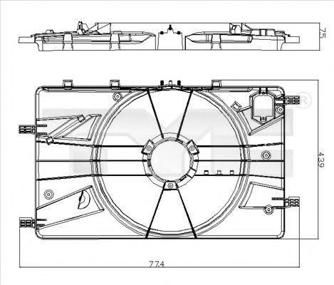 Кронштейн вентилятора радиатора TYC 82500181