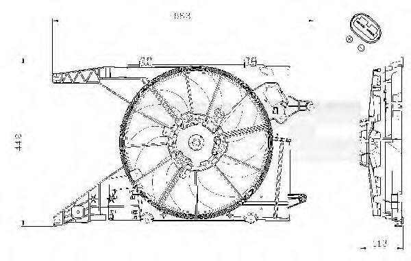 Вентилятор охлаждения двигателя TYC 8280002