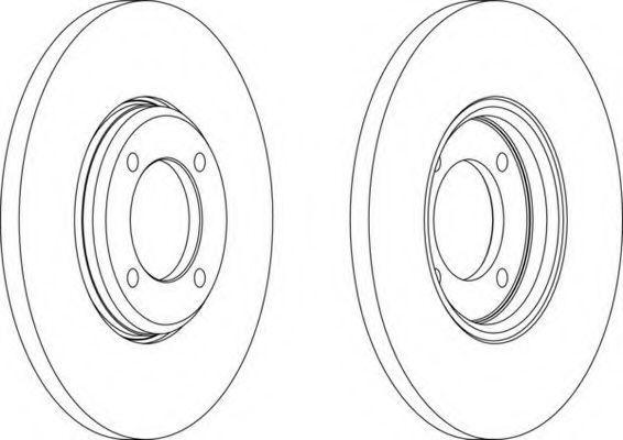 Тормозной диск FERODO DDF0231