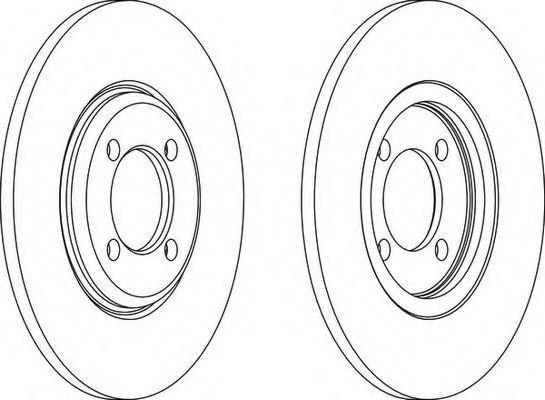 Тормозной диск FERODO DDF0271