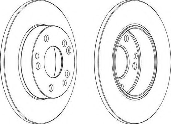 Тормозной диск FERODO DDF053C1