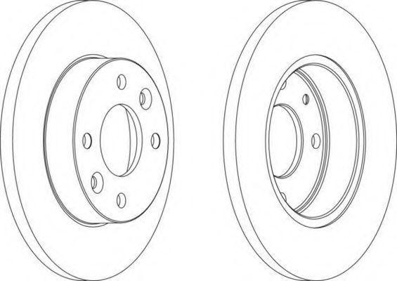 Тормозной диск FERODO DDF0551