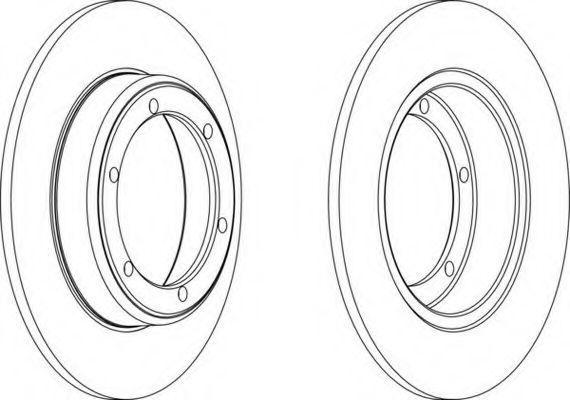 Тормозной диск FERODO DDF0601