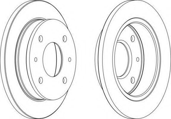 Тормозной диск FERODO DDF10771