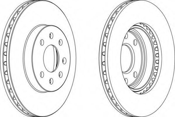 Тормозной диск FERODO DDF10971