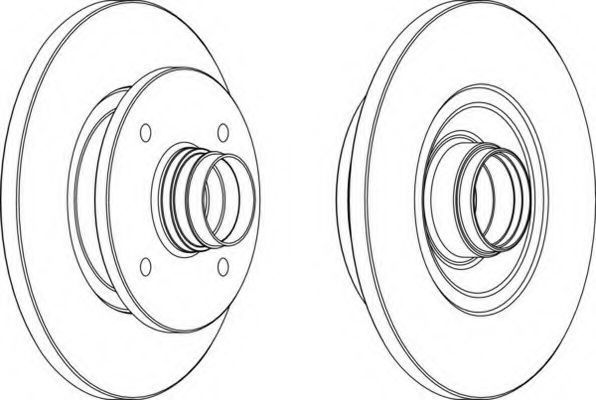 Тормозной диск FERODO DDF1141