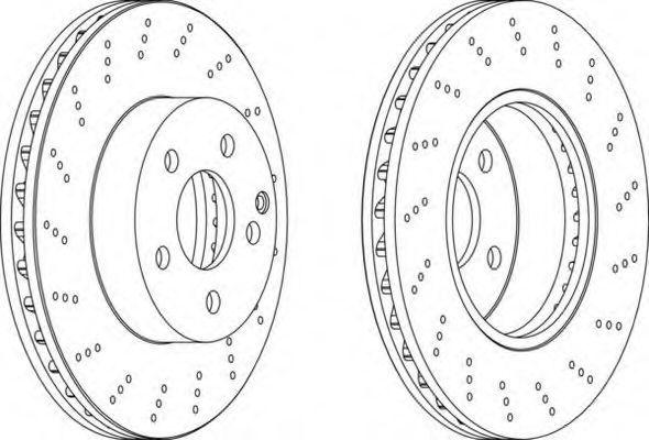 Тормозной диск FERODO DDF16931