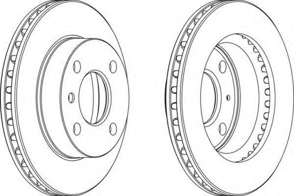 Тормозной диск FERODO DDF1831