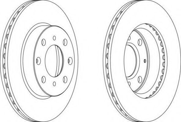 Тормозной диск FERODO DDF5711